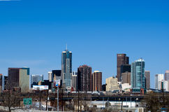 Denver Skyline from I-70 Royalty Free Stock Photography