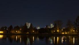 Denver-Skyline nachts Stockbilder