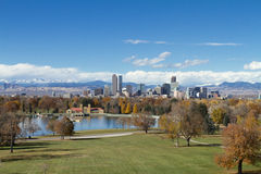 Denver Skyline Scenic Photo stock