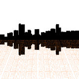 Denver skyline with text Stock Images