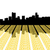 Denver Skyline with text Stock Image