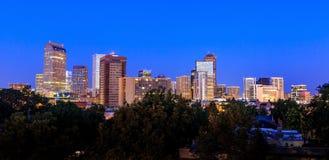 Denver Skyline At Twilight stock afbeelding