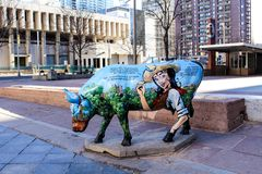 Denver Street Art - målade kor arkivfoton