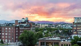 Denver Sunset Looped Timelapse banque de vidéos