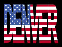 Denver text with flag Stock Photos