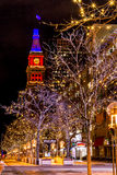 Denver 16th Street Mall in Orange and Blue Stock Photography