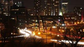 Denver Timelapse con tráfico de la carretera metrajes