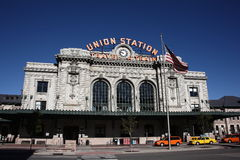 Denver - Union Station. A popular Denver landmark and tourist attraction on a bright sunny morning stock photos