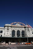 Denver - Union Station. A popular Denver landmark and tourist attraction on a bright sunny morning royalty free stock image