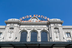 Denver Union Station. Facade of Union Station in Denver, Colorado Royalty Free Stock Photos