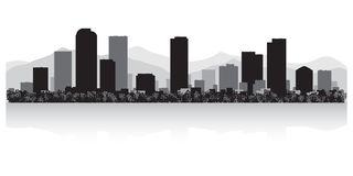 Denver Colorado city skyline silhouette vector illustration