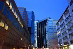 Denver vor Sonnenuntergang Lizenzfreie Stockfotos