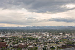 Denver-Vororte und felsige Berge in Colorado, USA Stockfoto
