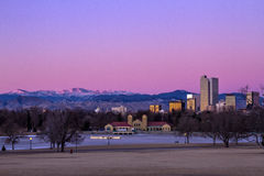 Denver Winter Skyline Jan 2013 Royalty Free Stock Image