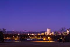 Denver Winter Skyline Jan 2013 Stockbilder