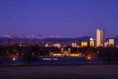 Denver Winter Skyline Jan 2013 Lizenzfreies Stockfoto