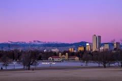 Denver Winter Skyline Jan 2013 Lizenzfreies Stockbild