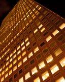 Denver-Wolkenkratzer nachts Lizenzfreie Stockfotografie