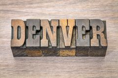 Denver-Wort in der Weinleseholzart Lizenzfreie Stockbilder