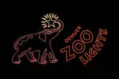 Denver-Zoo beleuchtet Eintrag-Zeichen Lizenzfreies Stockfoto