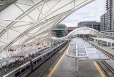 Denvers Zug zum Flughafen Lizenzfreies Stockbild