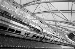 Denvers Zug zum Flughafen Stockfoto