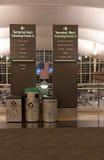 Denwerscy lotnisko znaki zdjęcia royalty free