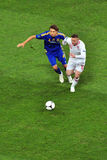 Denys Garmash και Wayne Rooney Στοκ φωτογραφίες με δικαίωμα ελεύθερης χρήσης