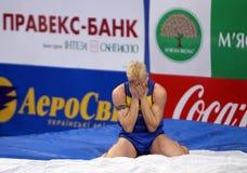 Denys Yurchenko en las estrellas del salto con pértiga de Samsung Fotografía de archivo