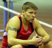 Denys Yurchenko on the Ukrainian Cup in Athletics Stock Image