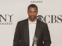 Denzel Washington Comes up Big at 64th Annual Tonys in 2010 Stock Images