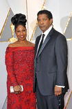 Denzel Washington och Pauletta Washington Arkivbild