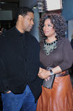 Denzel Washington, Oprah Winfrey Stockbild