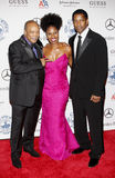 Denzel Washington, Pauletta Washington and Quincy Jones Stock Photo