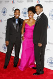 Denzel Washington, Pauletta Washington und Malcolm Washington Lizenzfreie Stockbilder