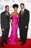 Denzel Washington, Pauletta Washington und Malcolm Washington Lizenzfreies Stockbild
