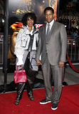 Denzel Washington und Pauletta Pearson Stockfotos