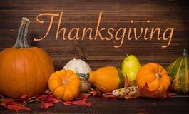 Deocorations autunno/di caduta Tema di ringraziamento Immagine Stock Libera da Diritti