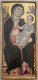 Deodato Orlandi Connu en Toscane, od 1284, 1332 Dziewica Fotografia Stock