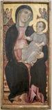 Deodato Orlandi En Toscane Connu, от 1284 до 1332 Девственница Стоковая Фотография