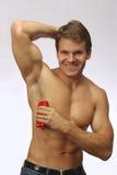 Deoderant antitranspirante para el atleta Imagenes de archivo