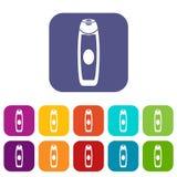 Deodorant icons set Royalty Free Stock Photos