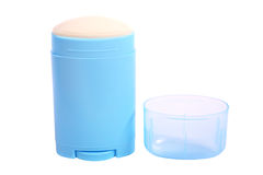 Deodorant preparation. Deodorants are substances applied to the body mainly to reduce body odor which is caused by the bacterial breakdown of Royalty Free Stock Photos