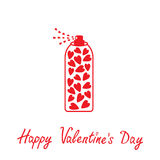Deodorant, spray with hearts inside. Happy Valenti Stock Image