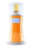 Deodorante in bottiglia arancione Fotografia Stock