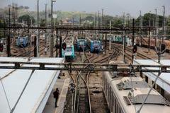 Deodoro-Bahnstation nahe Olympiapark 2016 Rios Deodoro Stockfoto