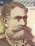 Deodoro da Fonseca. On 500 Cruzerios 1981 Banknote from Brazil. First president of the republic of Brazil after heading a military coup that deposed emperor Stock Photo