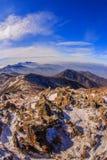 Deogyusan山由雪盖 图库摄影