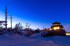 Deogyusan-Berge nachts im Winter, Korea Lizenzfreies Stockbild