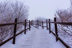 Deogyusan-Berge wird durch Schnee bedeckt Lizenzfreies Stockbild